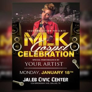 MLK Gospel Celebration Flyer Template