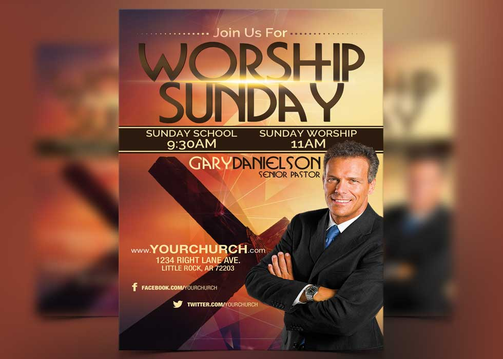 worship sunday free flyer template