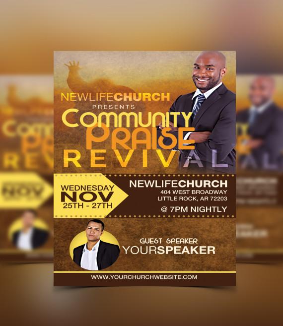 revival flyer template