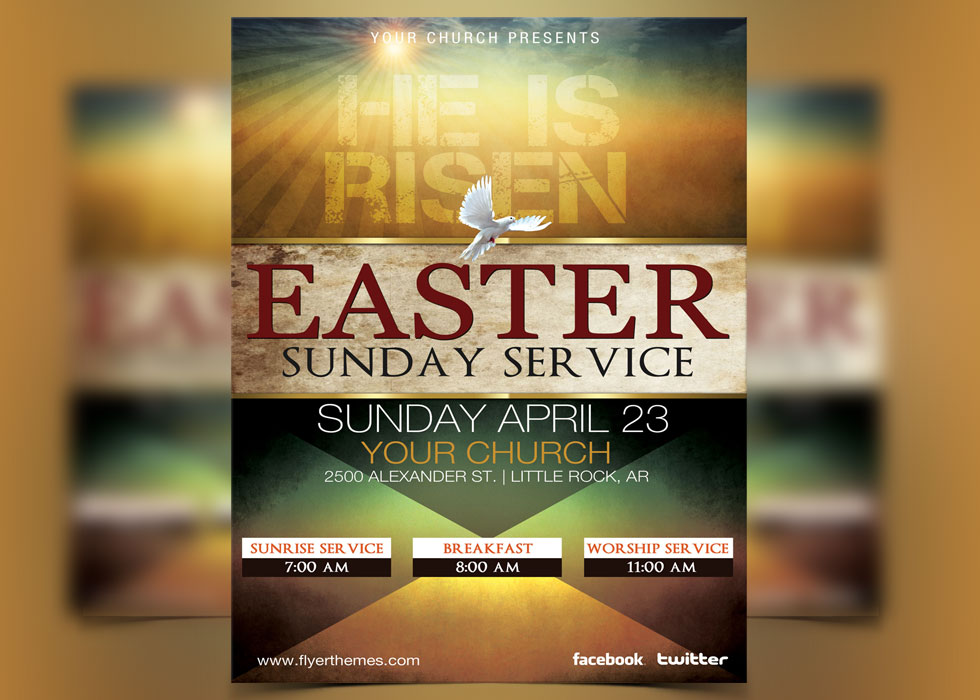 Church Flyer Templates For Ministry Events  Flyerthemes
