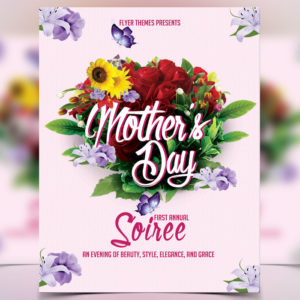Mother's Day Soiree Flyer Template