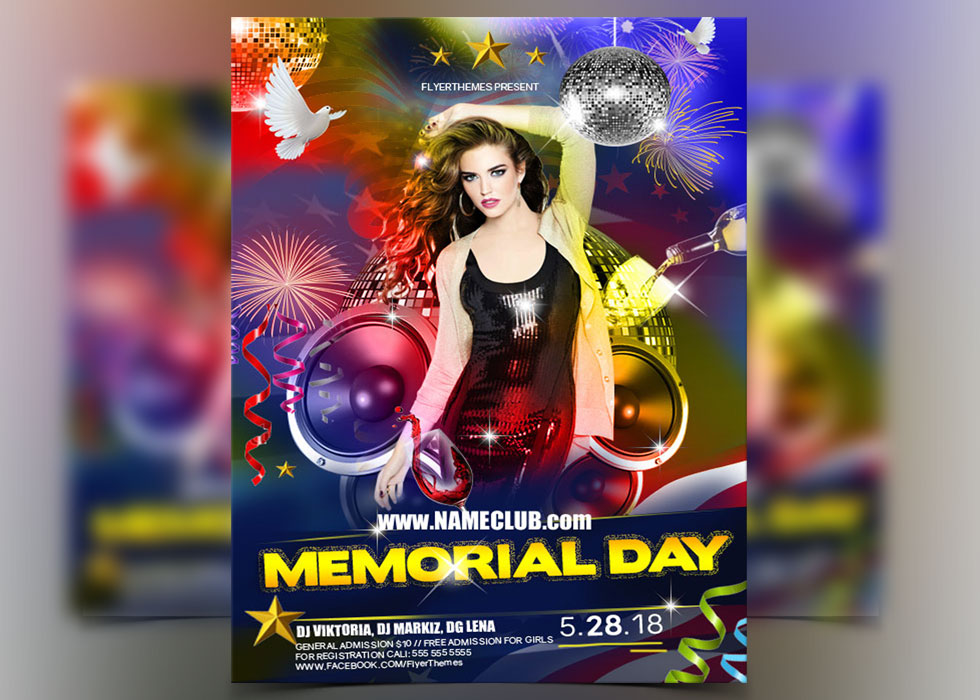 Memorial Day Flyer Templates Archives  Flyerthemes